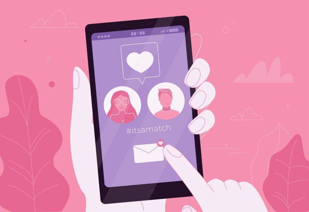 tinder virtual dating swipe right