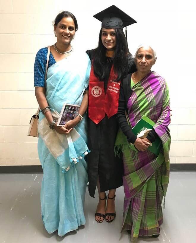 GS Lakshmi with daughter