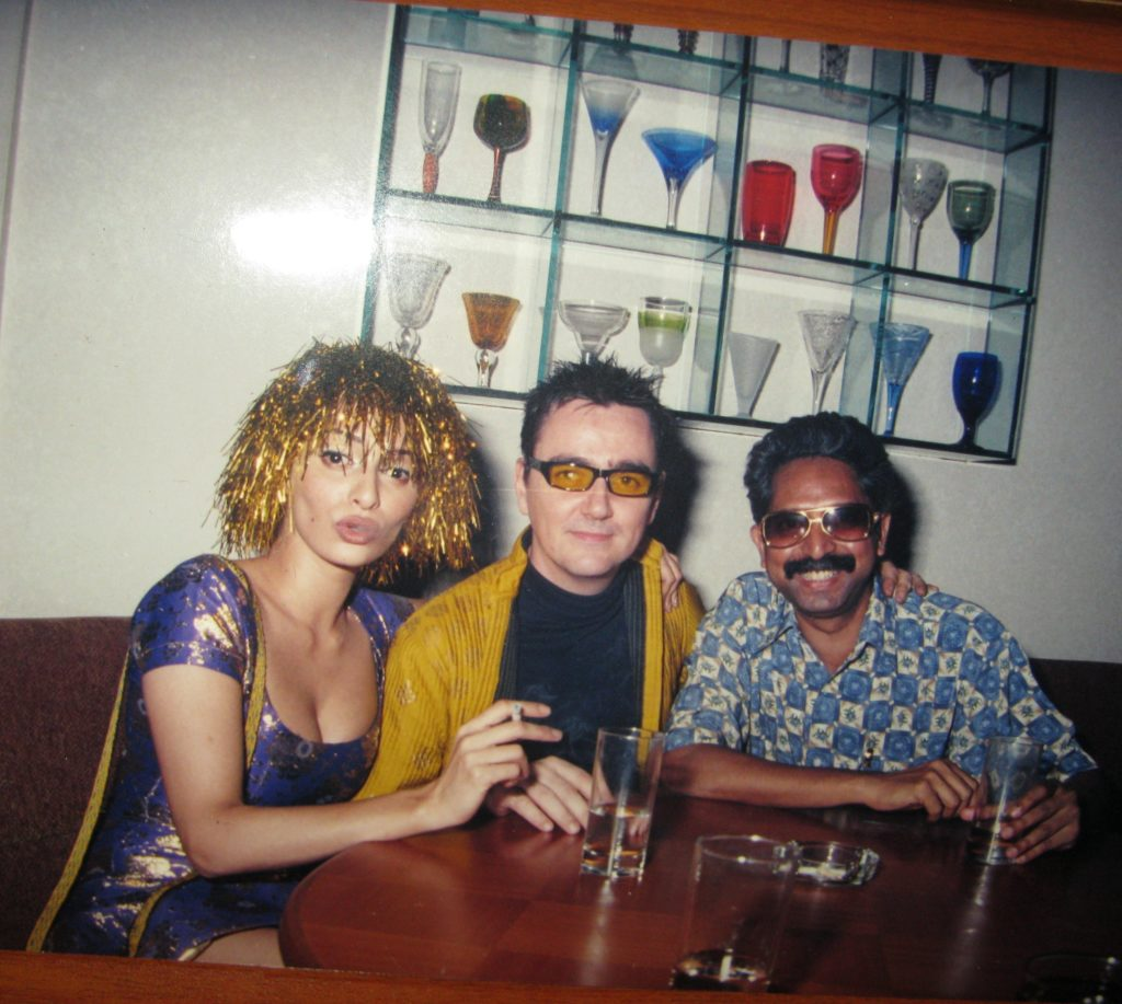 Late VJ Sophiya Haque and former business head of Channel V Jules Fuller at Liquid Lounge with Marcellus Baptista