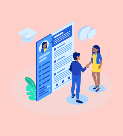 job interview resume illustration