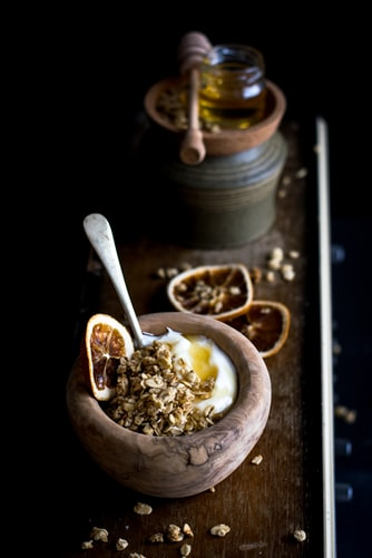 oats, Egg white and honey from unsplash by Monica grabowski