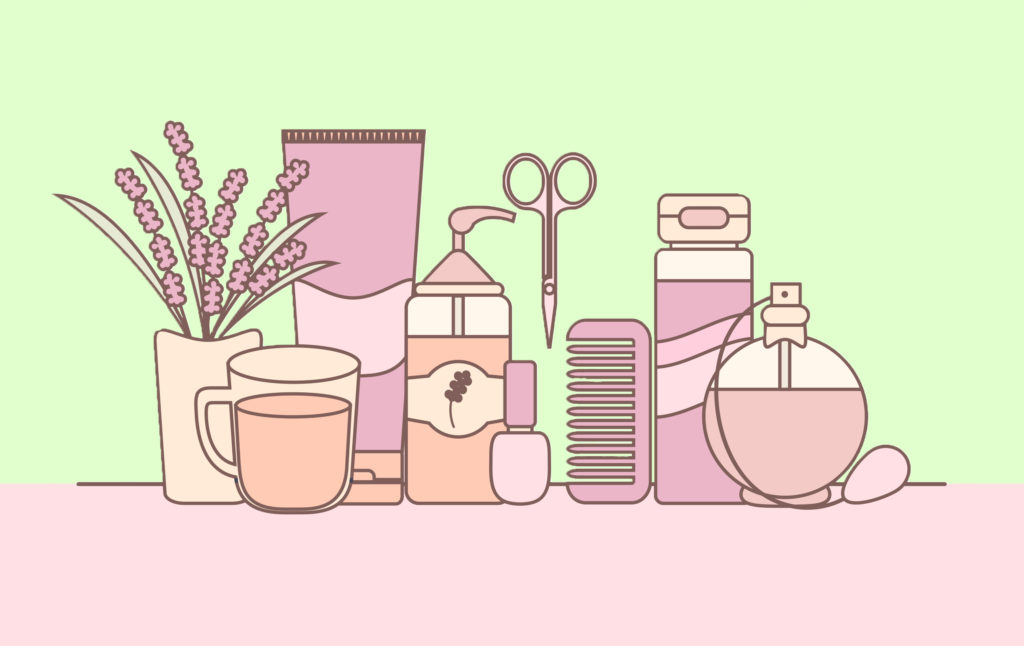 skincare products parabens vector