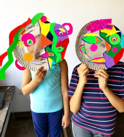 Children aret masks