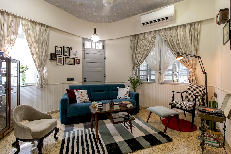 Upcycled furniture in modern decor. Photo: Fardeen Bhamgara