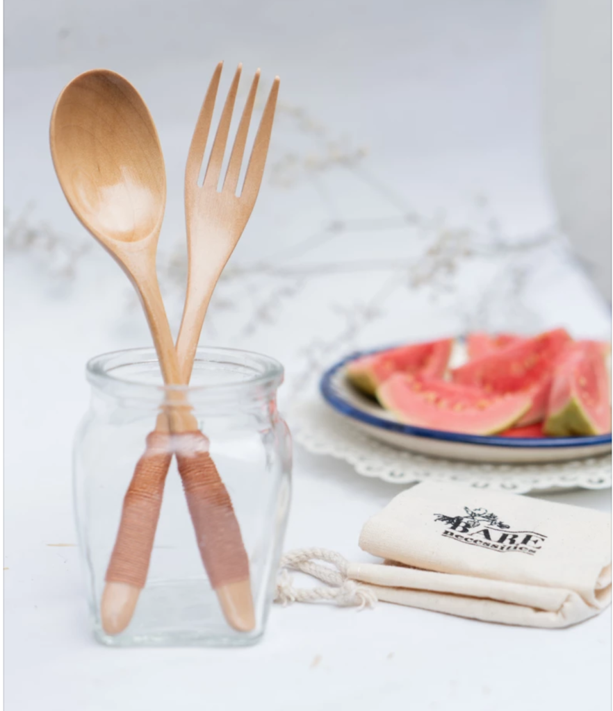 Carrying your own cutlery is one step towards sustainable travel