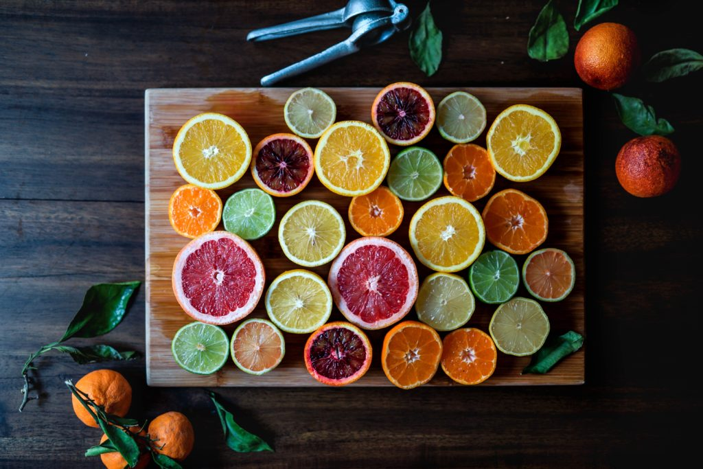 citrus fruit sliced plant-based diet