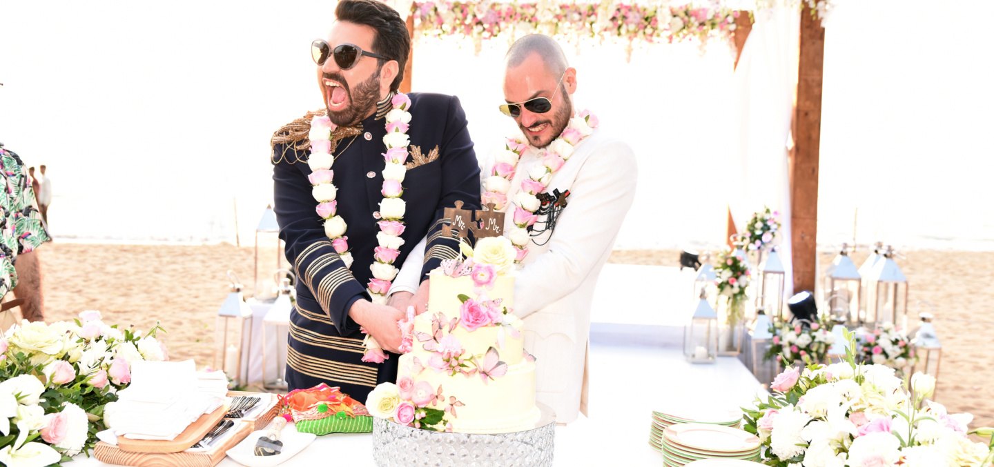 Gay marriage of Keshav Suri and Cyril Cyril Feuillebois