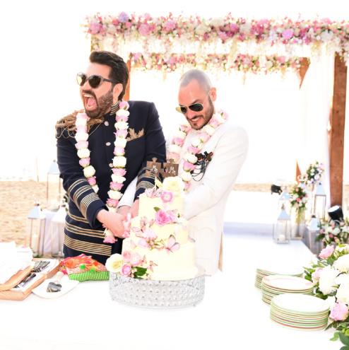 Gay marriage of Keshav Suri and Cyril Cyril Feuillebois