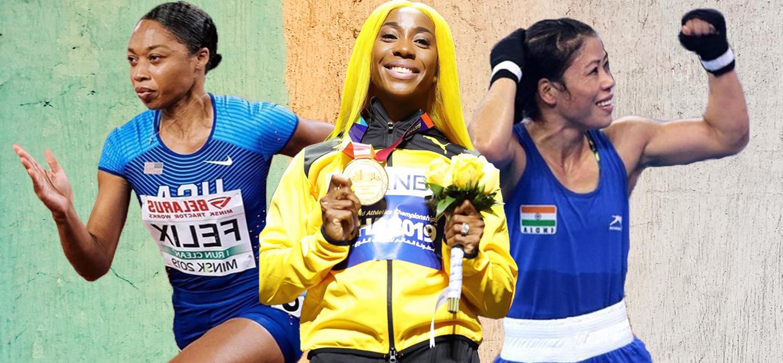 female athletes breaking records
