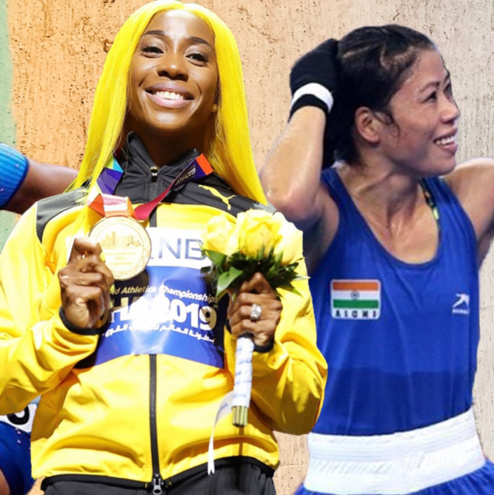 female athletes breaking records