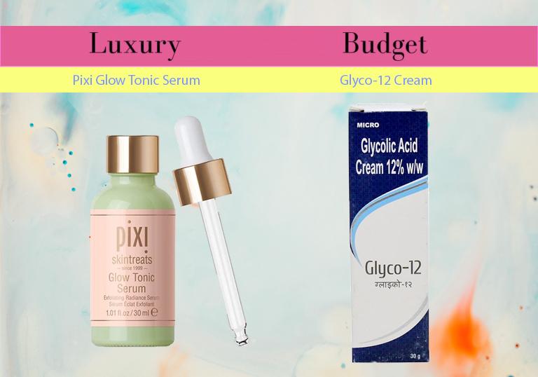pixi glow tonic glycolic acid serum skincare dupe