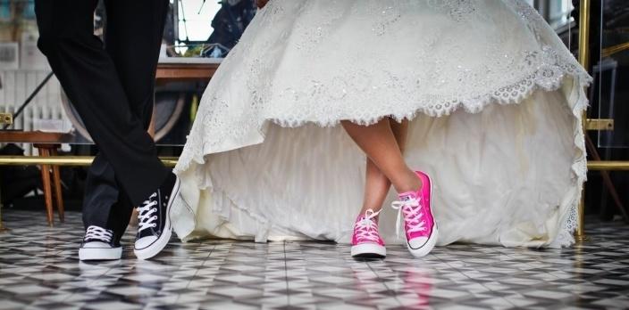 Women wearing sneakers