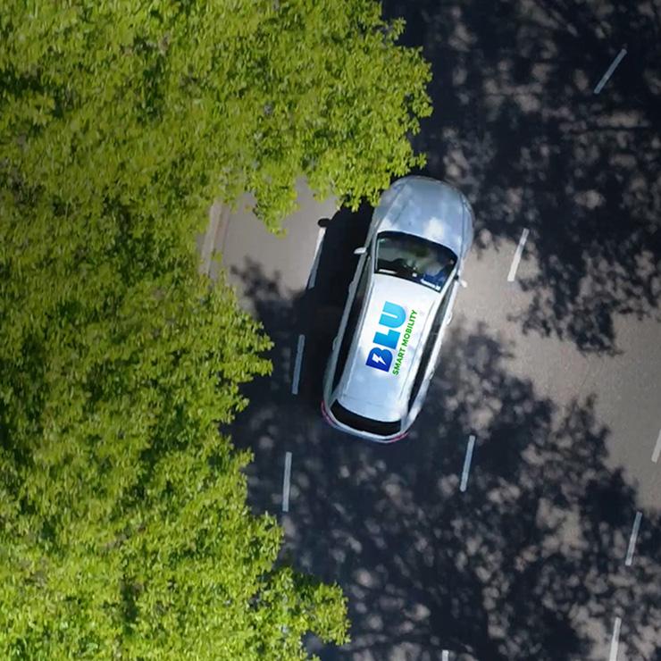 Blu-smart cab
