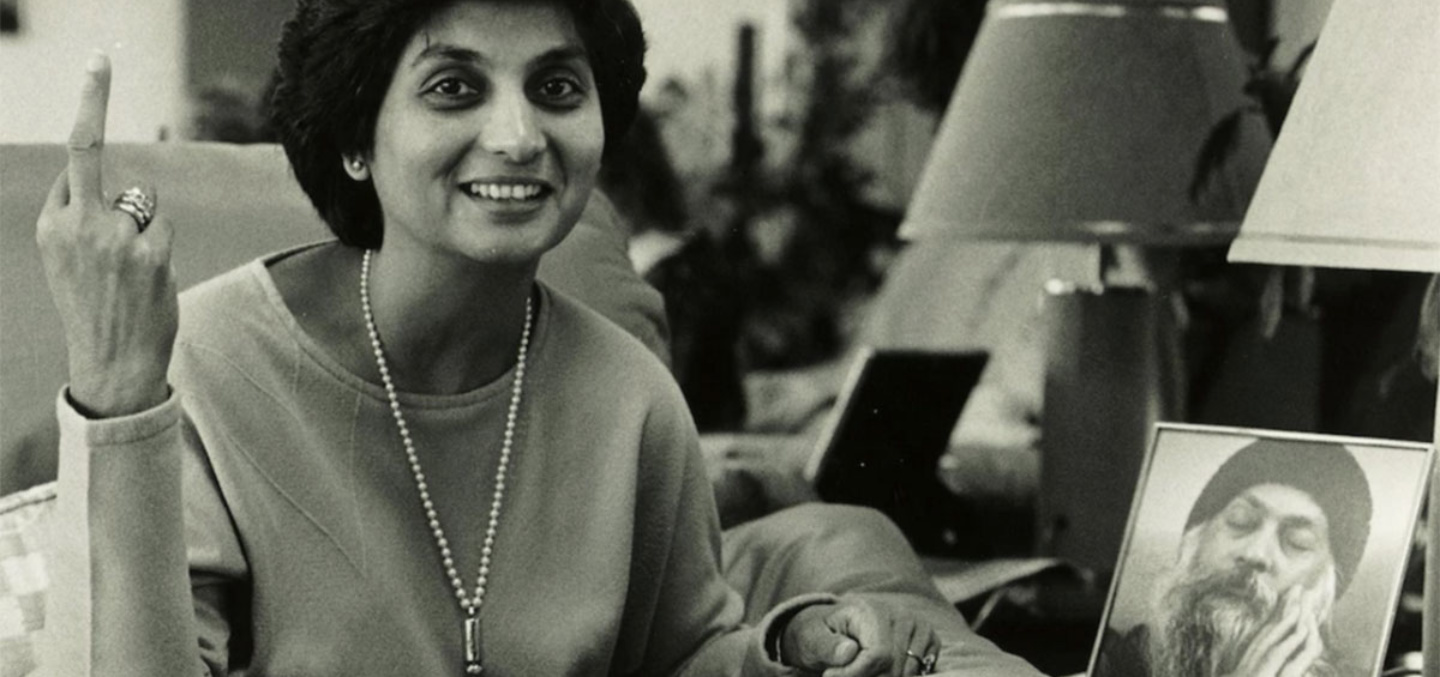 Maa Anand Sheela from Netflix documentary Wild Wild Country, one of the popular documentaries