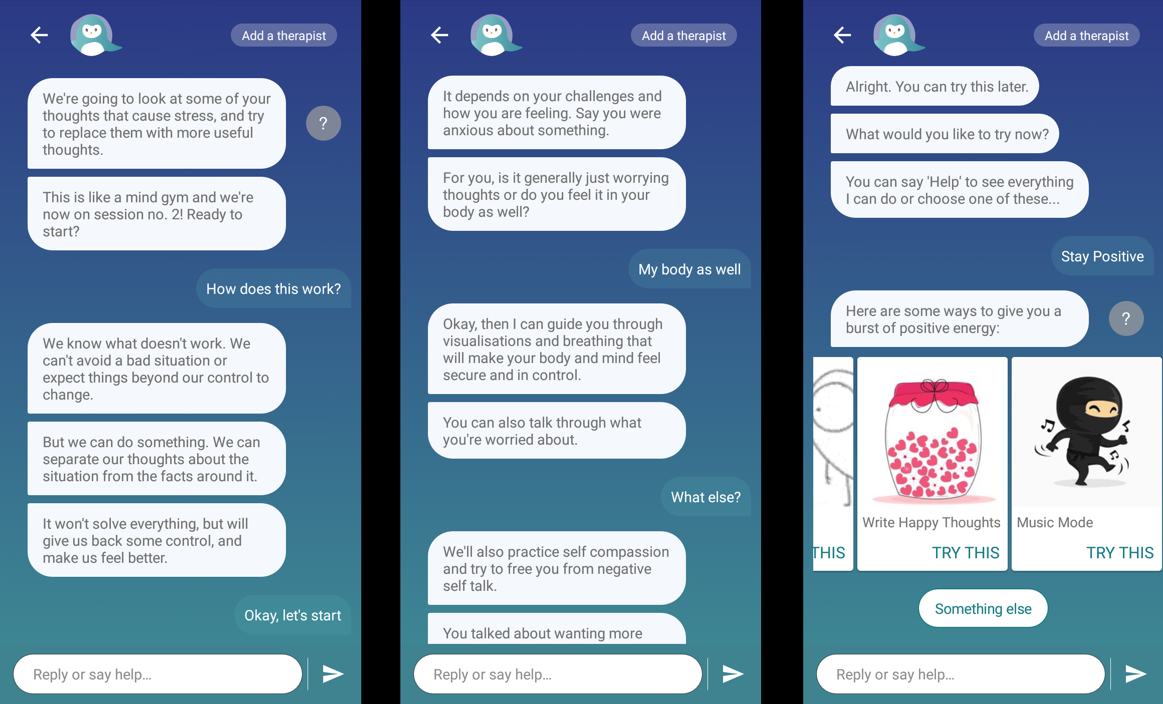 wysa mental health ai chatbots online therapy
