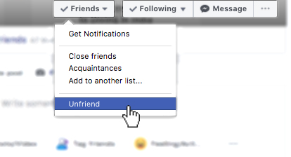 breaking up with a friend unfriend facebook