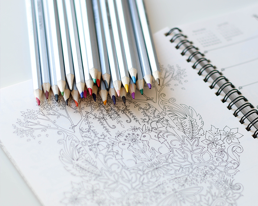 Hobbies for adults colouring books
