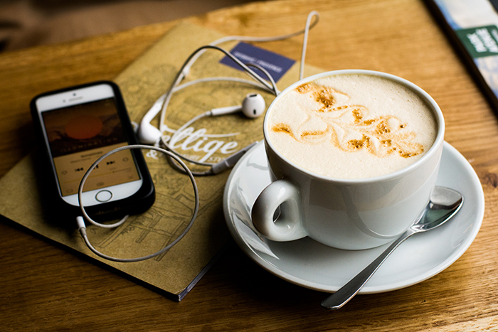 podcast coffee cafe