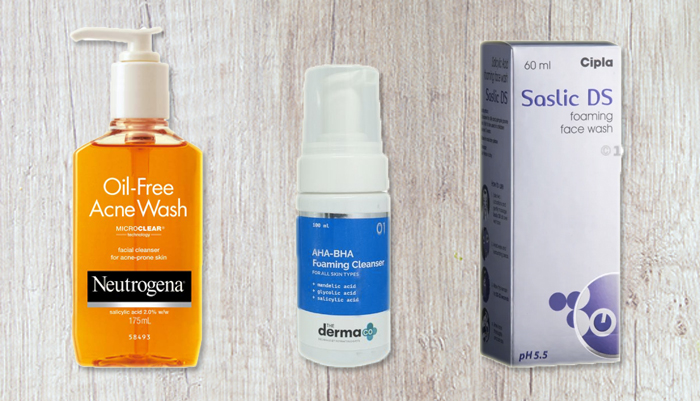 exfoliating face wash aha bha neutrogena acne monsoon skincare