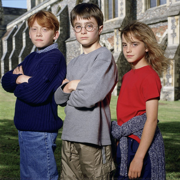 harry potter film cast young jk rowling
