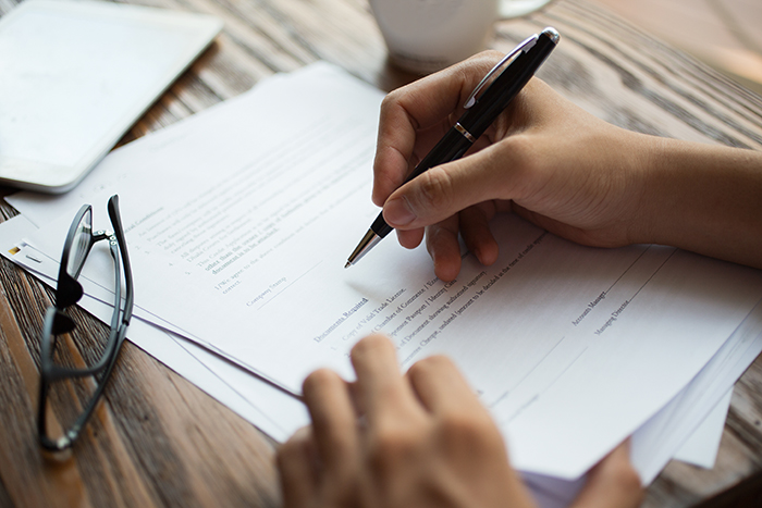 filing taxes paperwork folders office