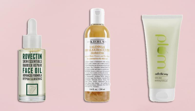 heal damaged skin moisture barrier skincare products india rovectin kiehls calendua plum aloe