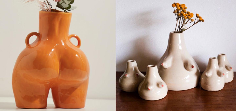 female form sculpture ceramics butt vase anissa kermiche