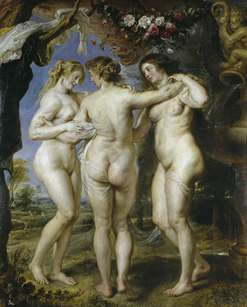 the three graces rubens painting cellulite nude women