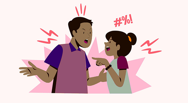 couple arguing fighting conflict de-escalation