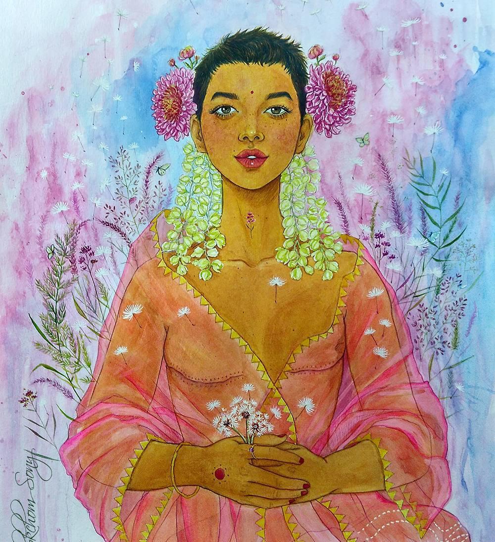 breast cancer awareness art s Thokchom Sony mastectomy