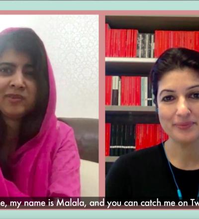 Malala Yousafzai and Twinkle Khanna
