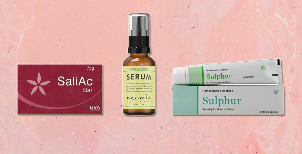 body care products salicylic acid lotion sulphur cream neemli naturals