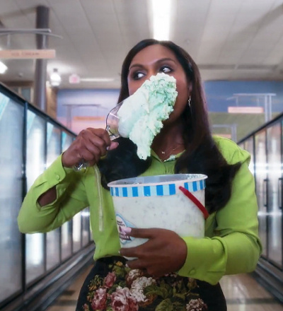 mindy kaling ice cream commercial super bowl