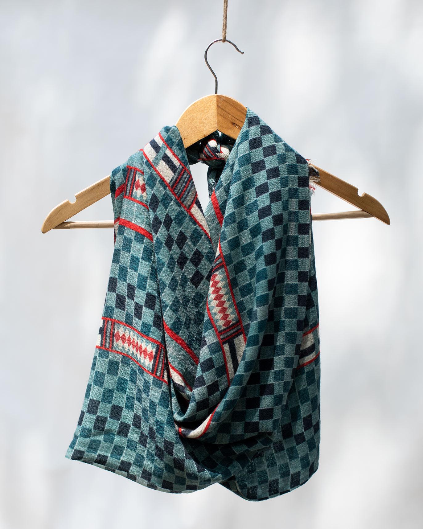 Woolen scarf winter wardrobe