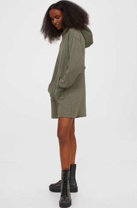 Sweatshirt dress winter wardrobe