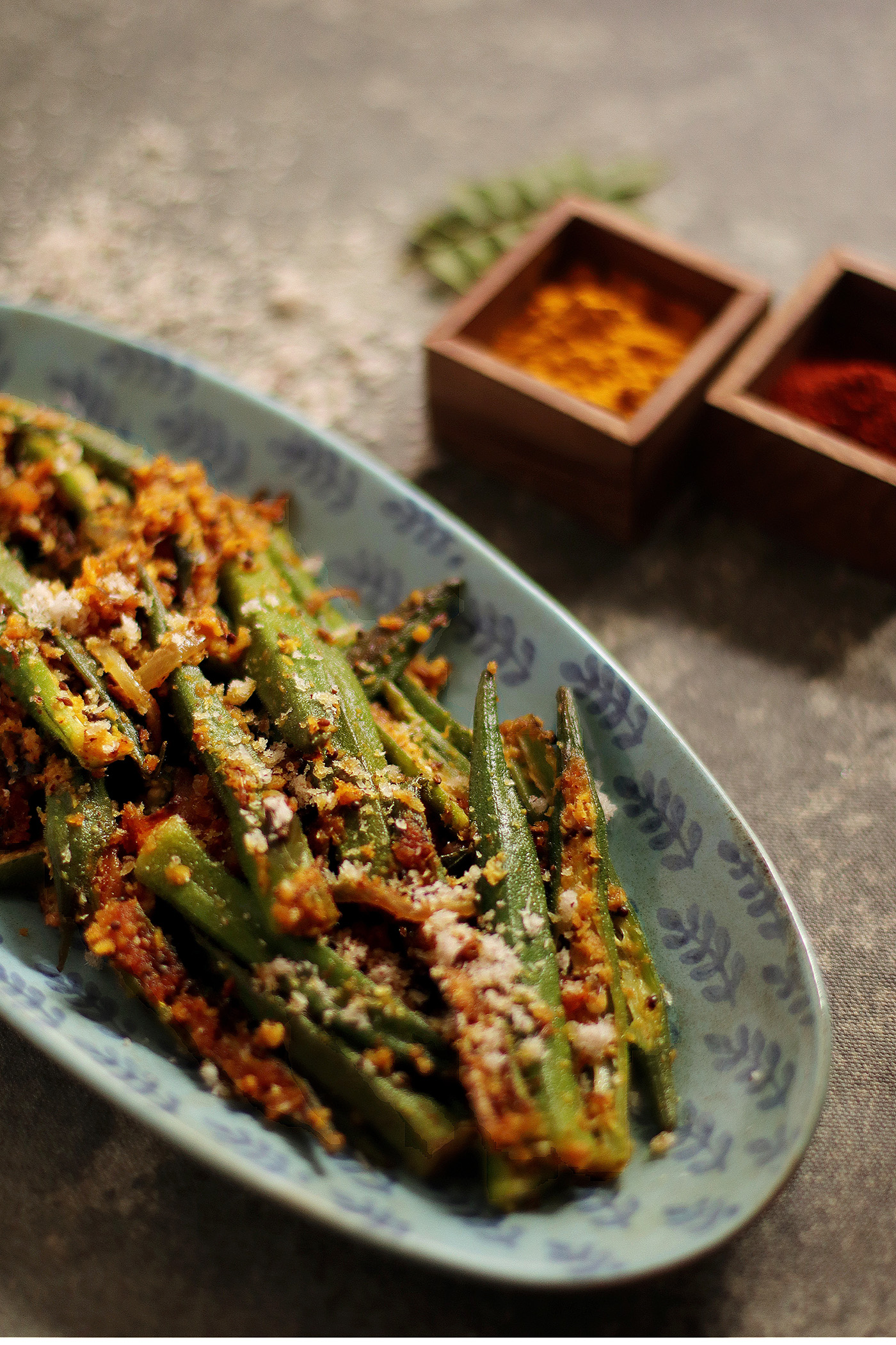 indian delicacies Bhindi poriyal
