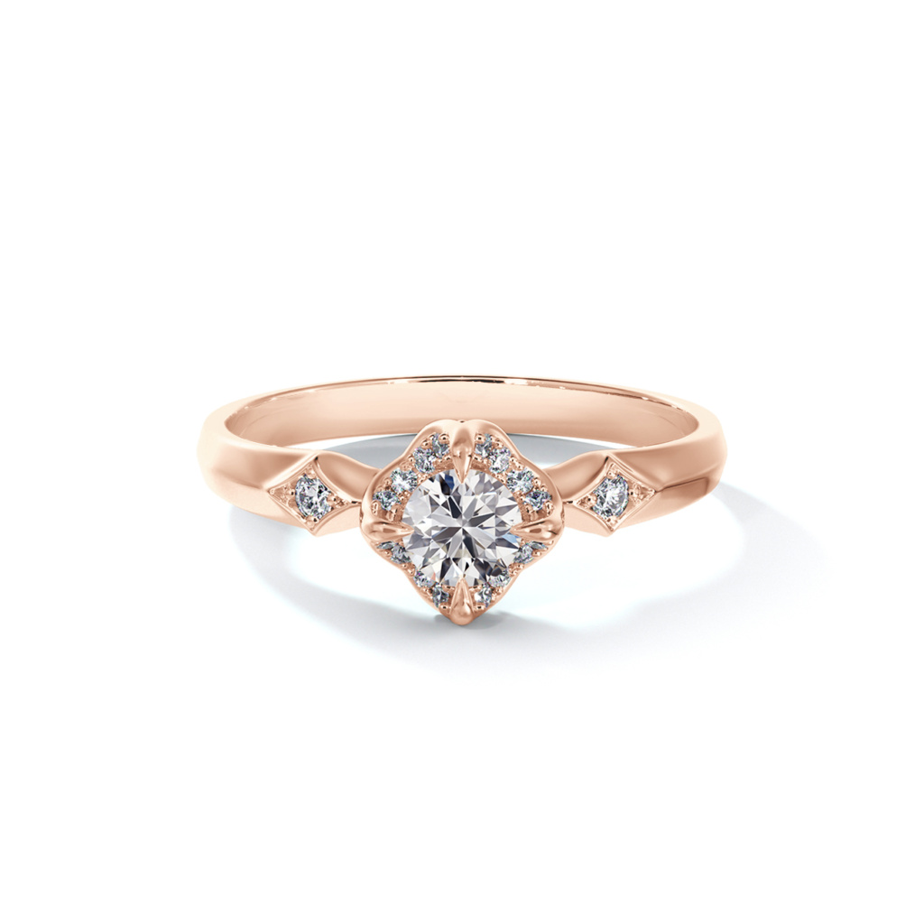 Forevermark Icon Bridal solitaire rose gold