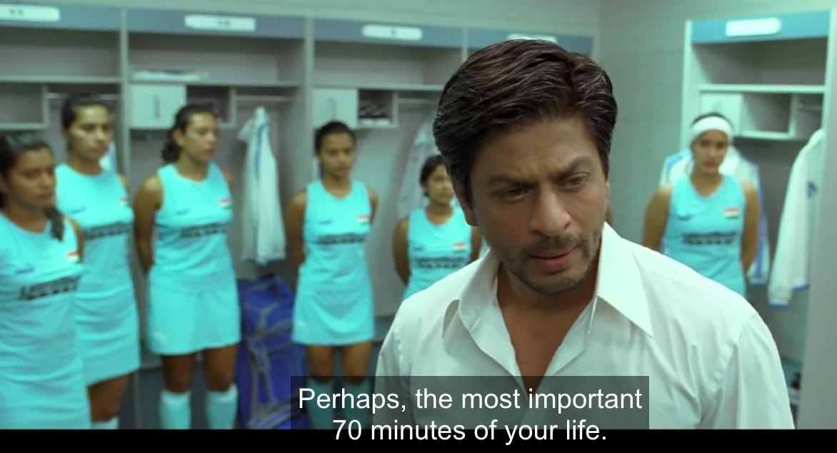 sattar minute speech srk chak de india film