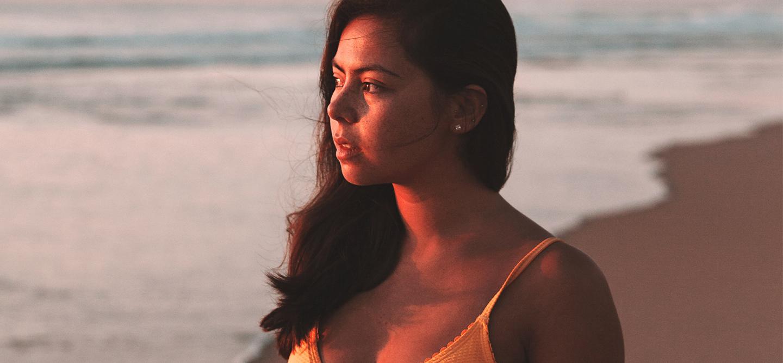 life-altering illness girl on beach