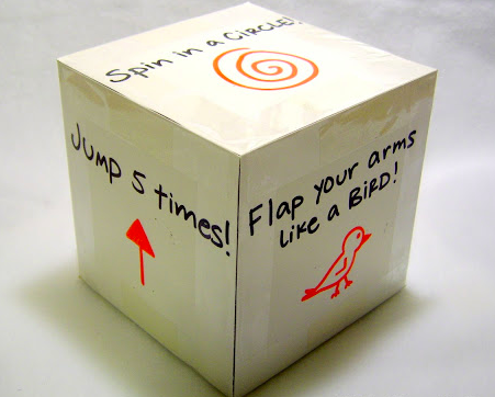 Physical activity cube activity for kids