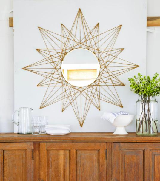 DIY home decor mirror
