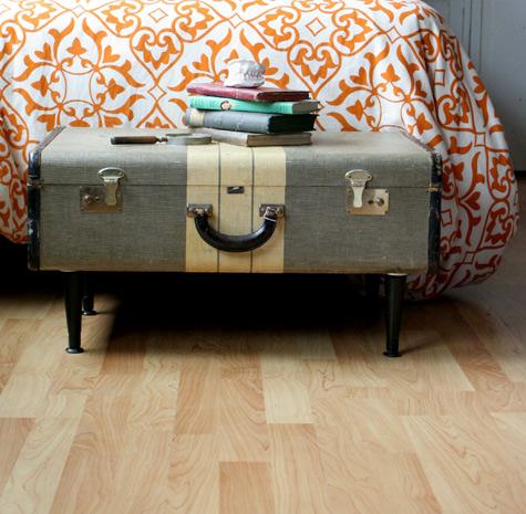 DIY home decor suitcase table