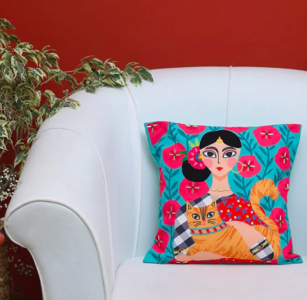 cat lady cushion decor ideas