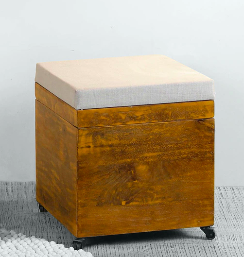 stool with storage for home in monsoons