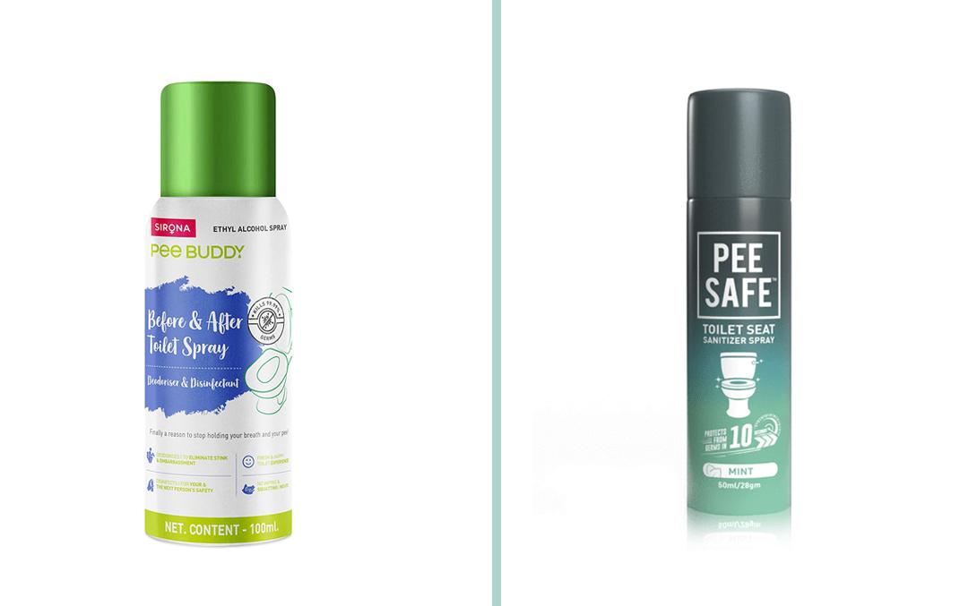 toilet seat sanitiser spray india utis