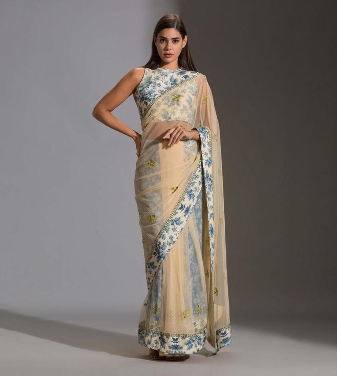 pre-stitched saris by Sougat Paul